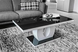 Table Basse Noire Design : table basse blanc et noir table basse en s trendsetter ~ Teatrodelosmanantiales.com Idées de Décoration