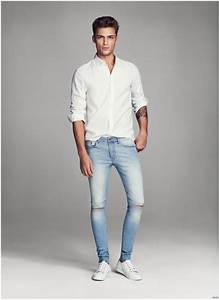 Harvey Haydon Models Super Skinny Denim Jeans for Hu0026M Men