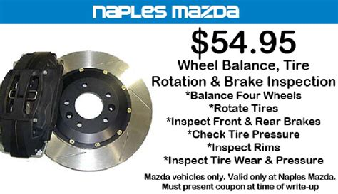 brake and l inspection wheel balance tire rotation and brake inspection 54 95
