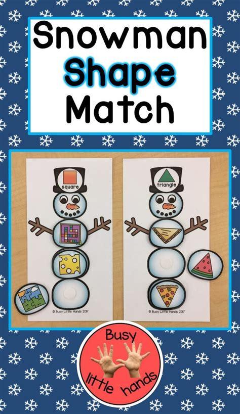 snowman shape match  preschool special education