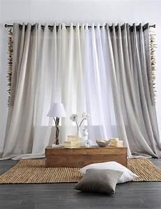 Rideaux à Poser Sur Fenêtres : les 25 meilleures id es de la cat gorie rideaux de salon ~ Premium-room.com Idées de Décoration