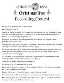 christmas tree decorating contest deadline nov18th