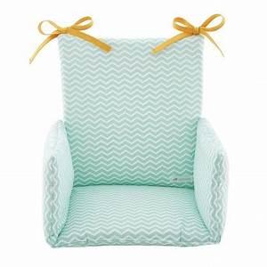 Coussin Vert Menthe : coussin chaise haute bebe compatible combelle 100 coton cocoeko cocoeko ~ Teatrodelosmanantiales.com Idées de Décoration