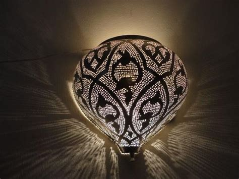 moroccan silver plated brass wall sconce l light ebay