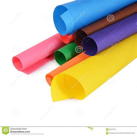 set   color paper close  stock image image