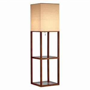 adesso crowley 57 in walnut shelf floor lamp 3317 15 With adesso 3 shelf floor lamp