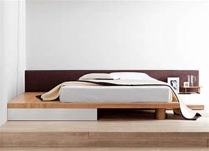 Square modern bed contemporary beds contemporary furniture for Modern bed images