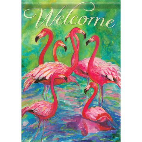 flamingo garden flags flamingos garden dura soft flag