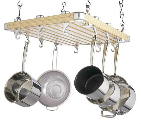 Ceiling Mount Pot Rack by Master Class Deluxe Ceiling Mounted Wooden Pot Rack Ebay