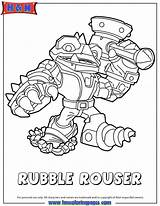 Coloring Skylanders Pages Swap Force Clipart Rubble Rouser Similar Printables Header3 Fancy Fonts Library Clip sketch template