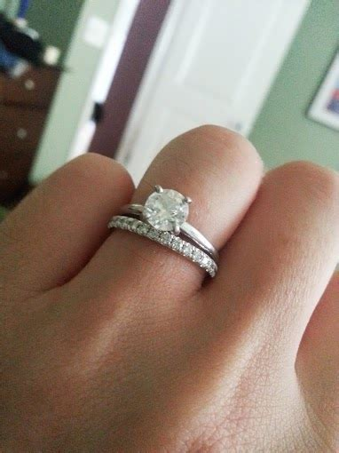 show me your solitaire e ring and band