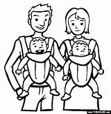 Coloring Pages Babies Twins Printable Template Thecolor sketch template