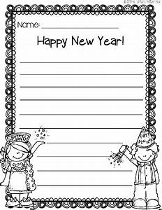 new years writing paper free template