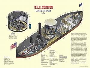 Cutaway Diagram Of The Uss Monitor  Uss Monitor Was
