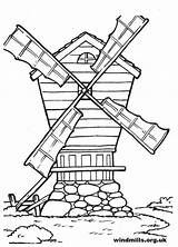 Windmills Windmill Colouring Drawing Coloring Colour Getdrawings sketch template