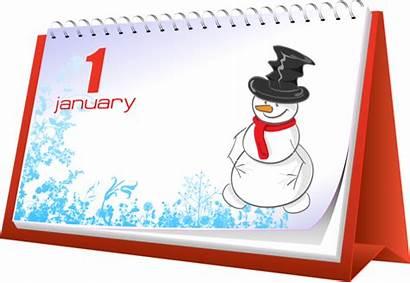 January Clipart Clip Calendar Holiday Events Transparent