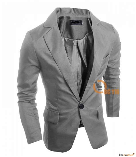 Kaos New York Abu Slim detil produk blazer pria slim fit new 116 abu abu kazoustore