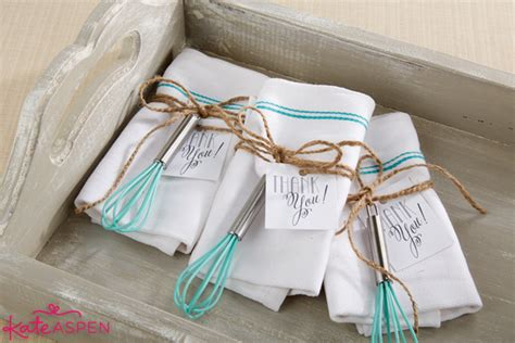 diy bridal shower whisk tea towel favors kate aspen blog