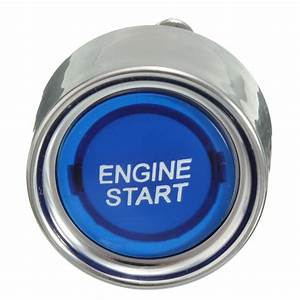 12v Blue Led Universal Car Engine Start Push Button