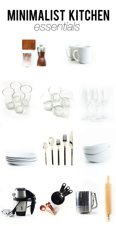 minimalist kitchen essentials   lovely