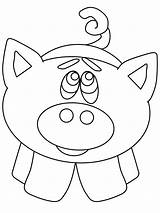 Coloring Pages Cut Pig Animal Confetti Shapes Animals Template Pigs Giraffe Printable Crafts Bmo Coloringpages101 Clip Library Clipart Popular sketch template
