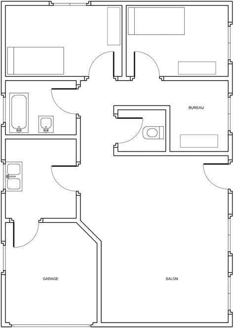 plan construction maison architectural plein pied studio design gallery best design