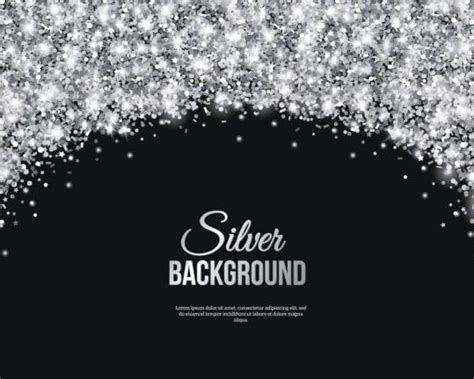 Black And Silver Background Silver Confetti With Black Background Vector 02 Free