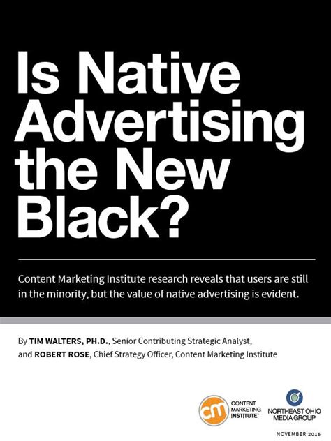 marketing institute advertising fad or new go to standard new research