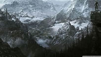 Skyrim Elder Scrolls Wallpapers 4k Desktop Mountain
