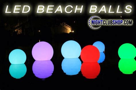 large light up balls beach and pool products nightclubshop com