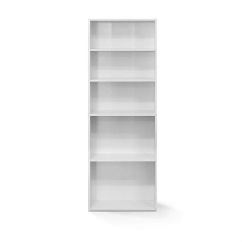 5 Shelf Bookcase by Furinno Wright Soft White 5 Shelf Bookcase 17061wh The