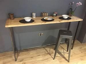 Table Bar But : breakfast bar table bistro table poseur table reclaimed wood table bespoke ebay ~ Teatrodelosmanantiales.com Idées de Décoration