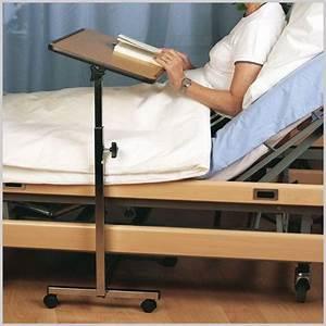 Tisch Für Bett : bett tisch rollbar h henverstellbar 68 115cm holzdekor ~ Kayakingforconservation.com Haus und Dekorationen
