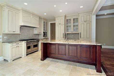 What To Do With White Kitchen Cabinets by Pictures Of Kitchens Traditional Two Tone Kitchen