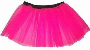 NEON PINK TUTU SKIRT LEGWARMERS FISHNET GLOVES HEAD