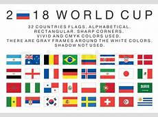 Flags of 2018 World Cup national teams 32 countries