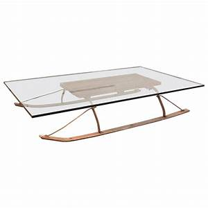 Coffee sled get back inc for Sled coffee table