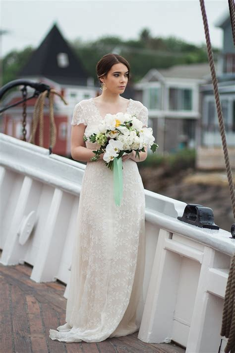 nautical wedding inspiration and gorgeous cap sleeves