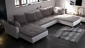 Big Sofa L Form : couchgarnitur couch ecksofa sofagarnitur sofa u form volcano neu wohnlandschaft polsterm bel ~ Eleganceandgraceweddings.com Haus und Dekorationen