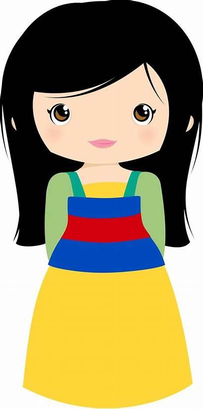Mulan Disney Princess Clipart Clip Minus Cutes