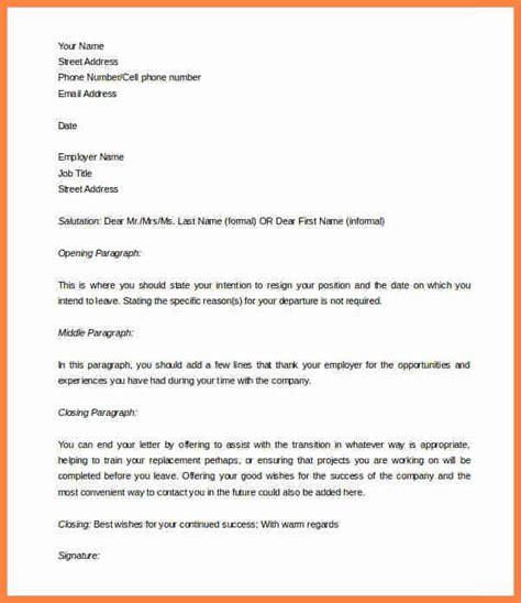 template  week notice notice letter