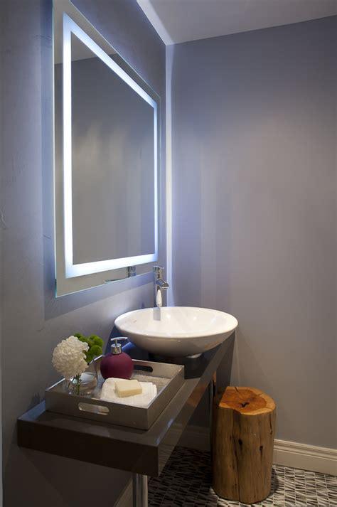 backlit bathroom mirrors white wall bathroom modern