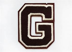 vintage maroon varsity letter quotgquot jacket patch 2200 With varsity letter applique