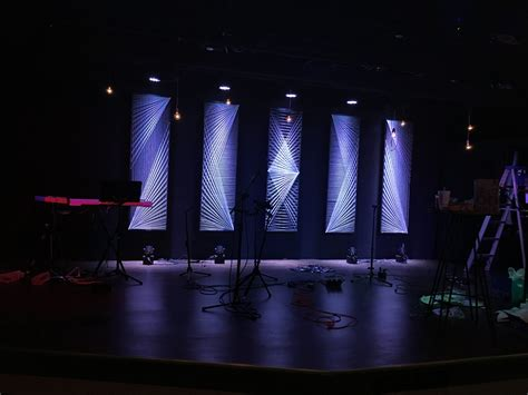 string arrangement church stage design ideas