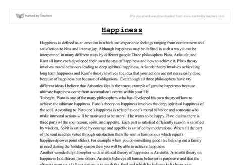 Father definition essay on happiness