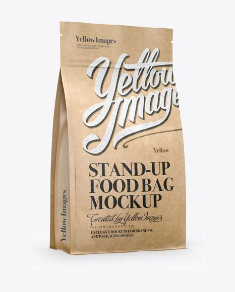 Here we have collected for you only the best examples of modern design. Kraft Stand-up Bag w/ Zipper Mockup - Half Side View in ...