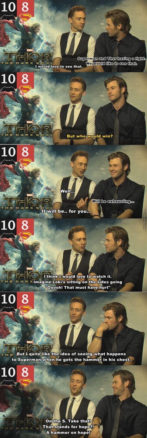 Superman V Thor By Going2diesooner Meme Center