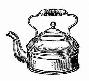 Digital Stamp Design: Tea Kettle Image Vintage Kitchen ...