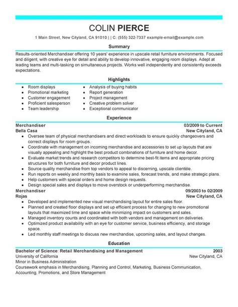 merchandiser retail representative part time resume sle my resume my