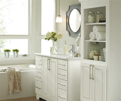 white bathroom cabinets kemper cabinetry